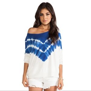 Joie • Blue White Emari C Tie Dye Sweater